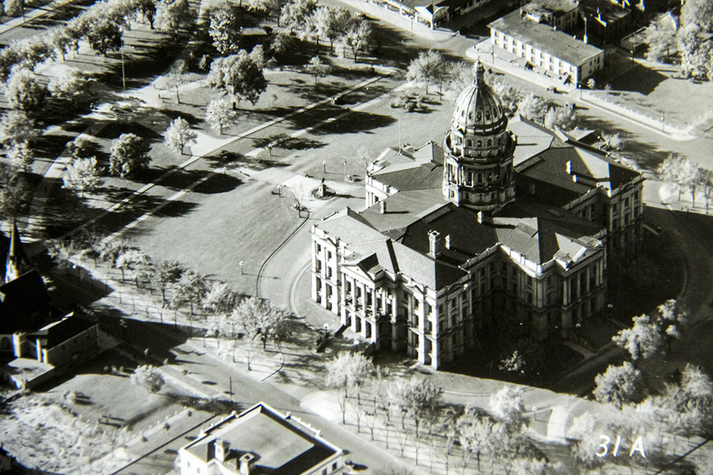 The Colorado State Capitol. (Denver Public Library/Western History Collection/George D. Begole Papers)  arapahoe courthouse; history; archival; downtown; denver public library; colorado; denverite