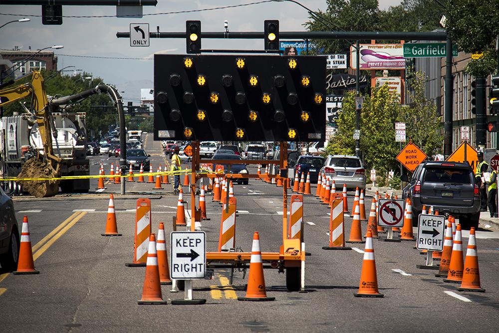 Construction on East Colfax Avenue. (Kevin J. Beaty/Denverite)  denver; colorado; kevinjbeaty; denverite; colfax; development; construction;