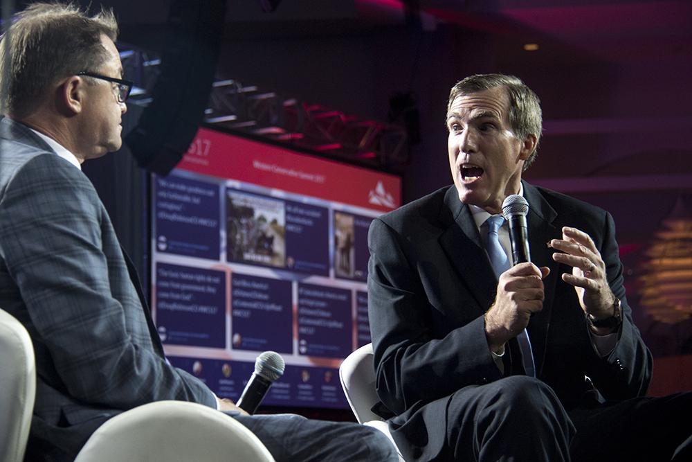 Colorado gubernatorial candidate Doug Robinson speaks at the Western Conservative Summit, July 22, 2017. (Kevin J. Beaty/Denverite)