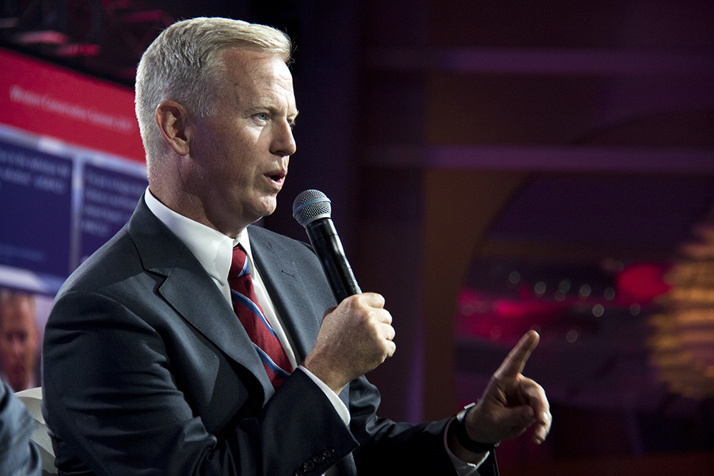 George Brauchler addresses the Western Conservative Summit, July 22, 2017. (Kevin J. Beaty/Denverite)  western conservative summit; copolitics; politics; denver; colorado; denverite; kevinjbeaty;
