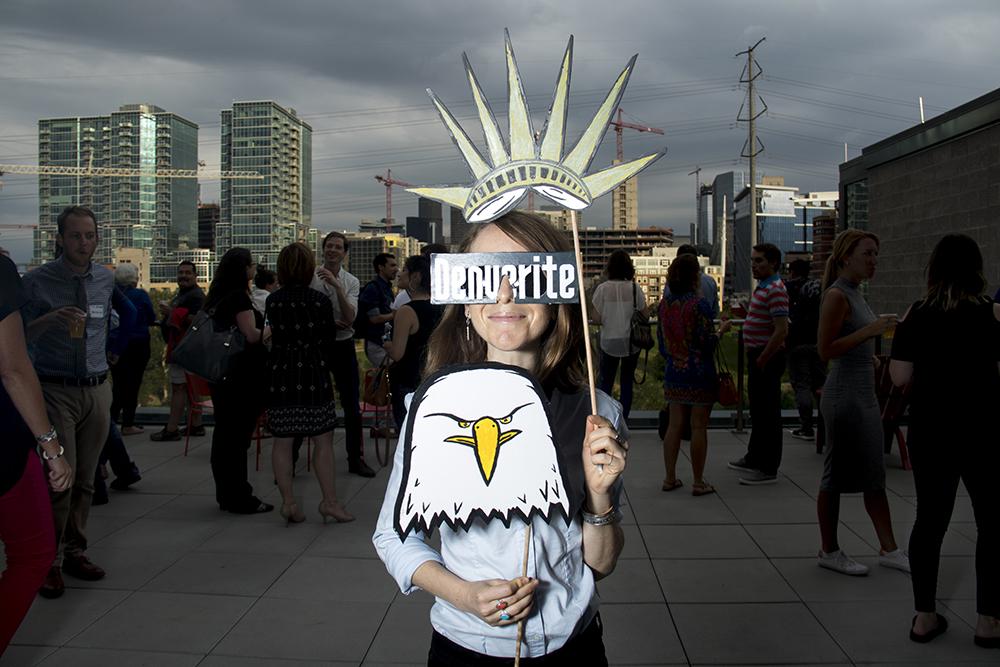 Denverite turns 1. (Kevin J. Beaty/Denverite)  denverite; party; galvanize platte; kevinjbeaty; denver; colorado;
