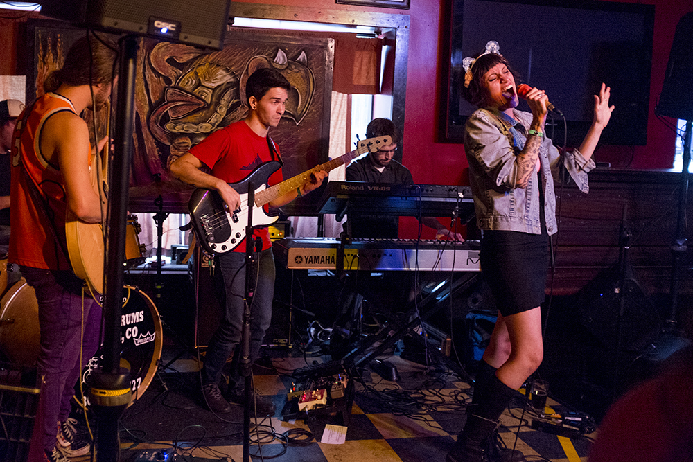Ghost Tapes performs at the Skylark Lounge on South Broadway. The Underground Music Showcase, July 29, 2017. (Kevin J. Beaty/Denverite)  denver; ums; denverite; colorado; music; south broadway; bars; nightlife; entertainment;