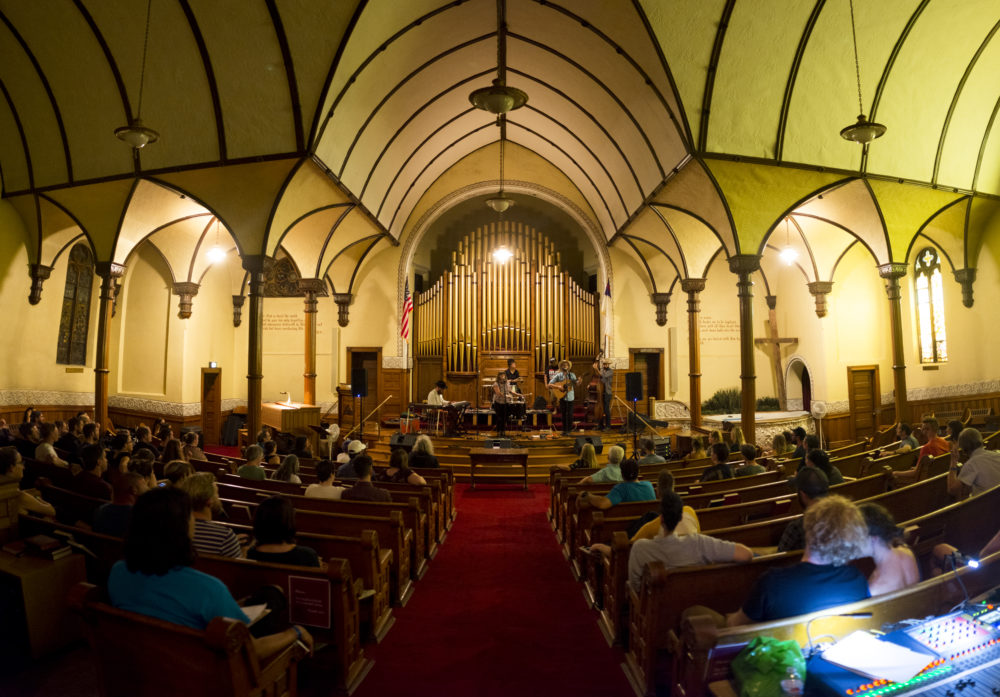 Natalie Tate performs at the South Broadway Christian Church. The Underground Music Showcase, July 29, 2017. (Kevin J. Beaty/Denverite)  denver; ums; denverite; colorado; music; south broadway; bars; nightlife; entertainment;