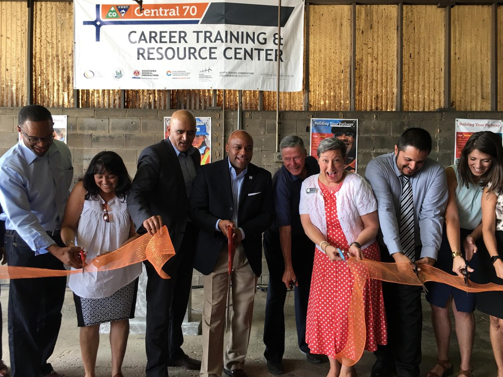 A ribbon cutting for the new career training and resource center, July 6,  2017. (Courtesy of Councilwoman Robin Kniech)