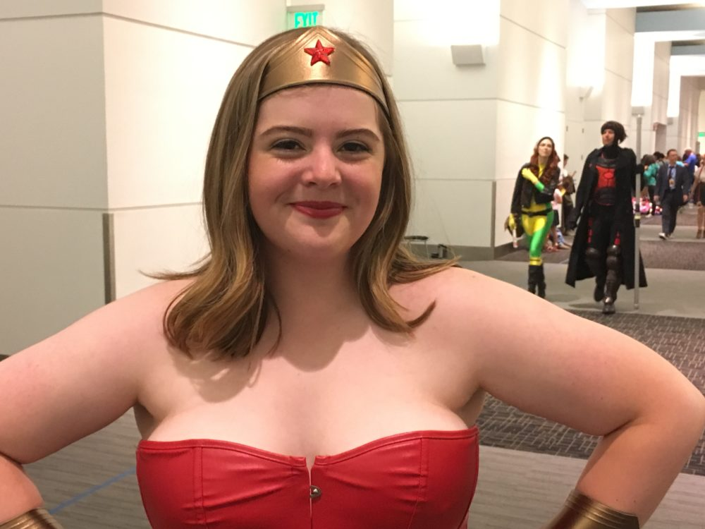 Vivian Shamma, dressed as Wonder Woman, poses at Denver Comic Con on Saturday, July 1, 2017. (Dave Burdick/Denverite)