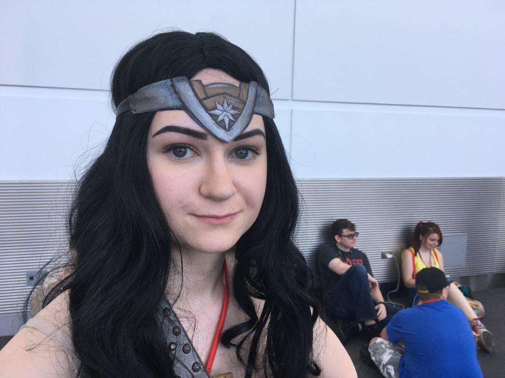 Alane Jacobs, dressed as Wonder Woman, poses at Denver Comic Con on Saturday, July 1, 2017. (Dave Burdick/Denverite)