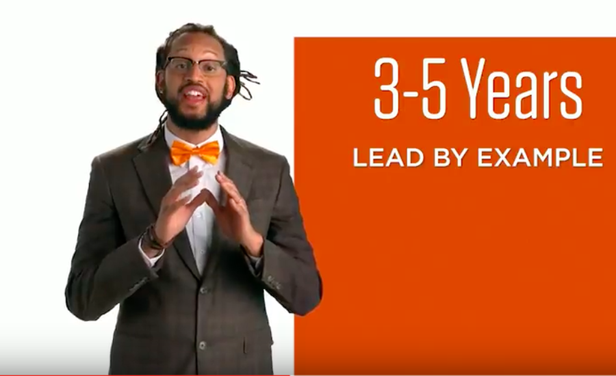 Stephen Brackett, a lead vocalist for the Denver hip-hop group Flobots, appears in a set of state videos about early learning.