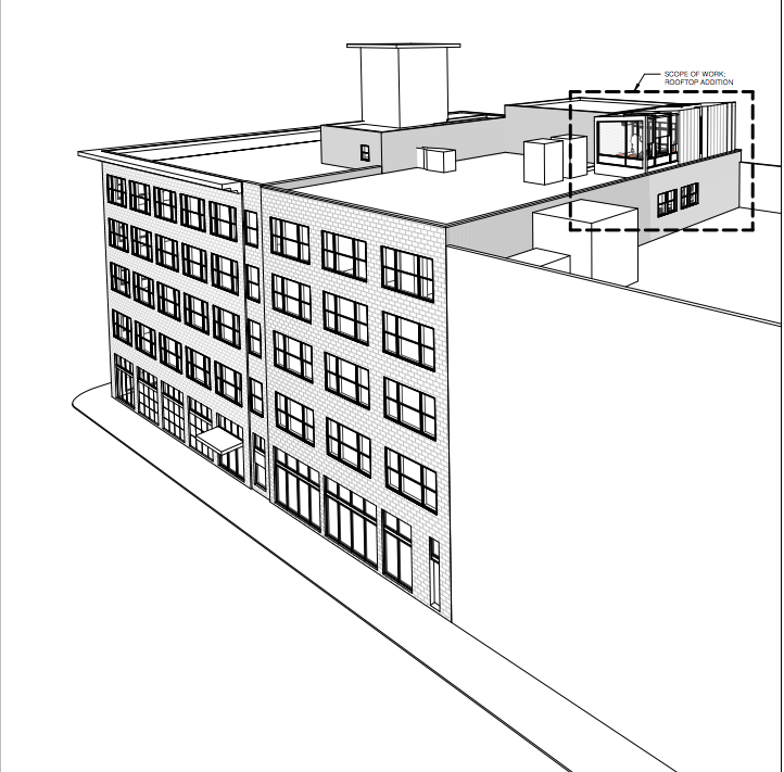 A rendering of the penthouse as provided to the city of Denver. (Courtesy of the city of Denver)