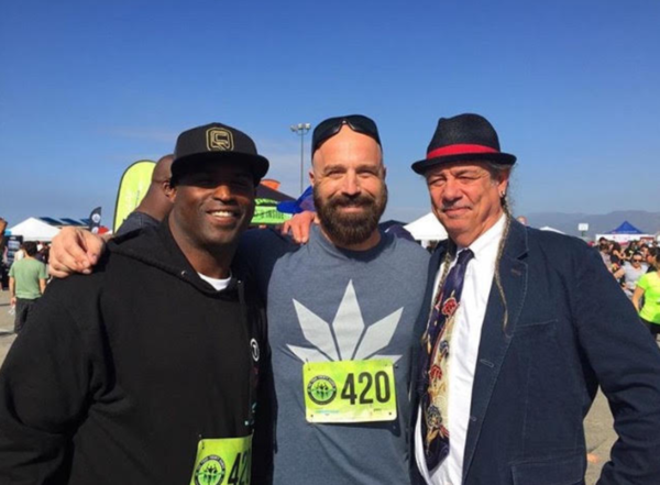 Jim McAlpine, Ricky Williams and Steve DeAngelo at the 420 Games in Los Angeles. (Courtes of Jim McAlpine)