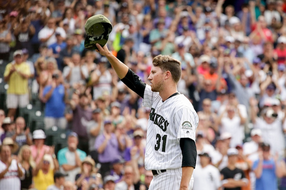 Kyle Freeland nearly completed the no-hitter Sunday at Coors Field. (Isaiah J. Downing/USA Today Sports)