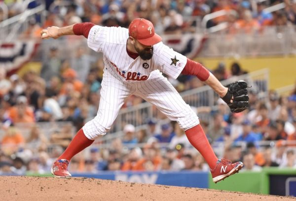 Pat Neshek delivers a sidearm pitch. (Steve Mitchell/USA Today Sports)