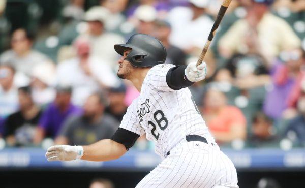 Nolan Arenado smacked three home runs Wednesday. (Chris Humphreys/USA Today Sports)