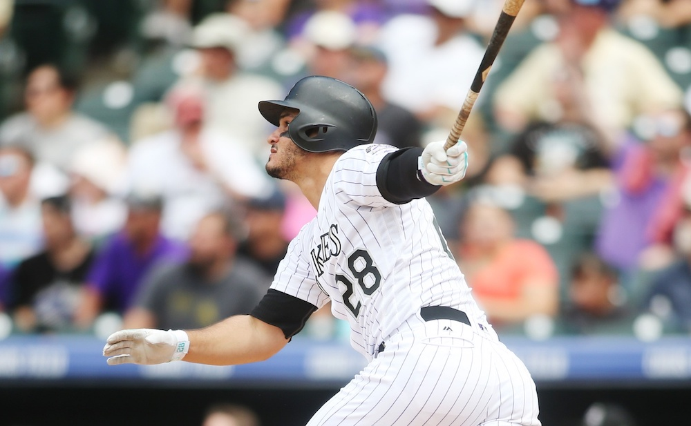 Nolan Arenado smacked three home runs Wednesday. (Chris Humphreys/USA Today Sports)