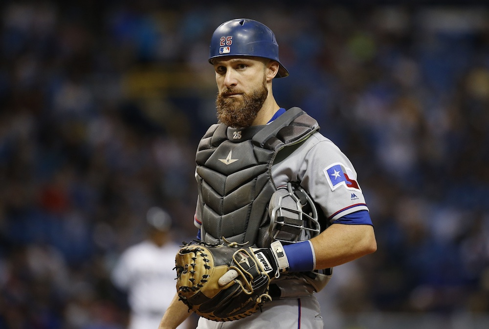 Jonathan Lucroy is headed to Colorado. (Kim Klement/USA Today Sports)