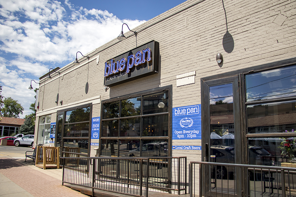Blue Pan Pizza, Congress Park. (Kevin J. Beaty/Denverite)  denver; colorado; kevinjbeaty; denverite; congress park; pizza; food; restaurant;