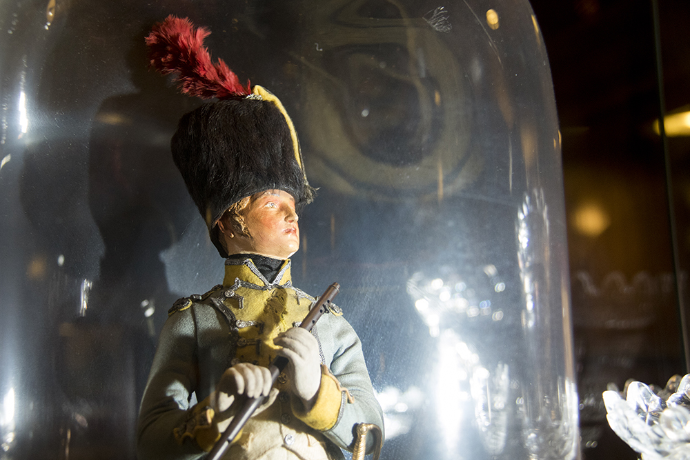 A handmade Napoleonic soldier on display at the Brown Palace Hotel, Aug. 3, 2017. (Kevin J. Beaty/Denverite)