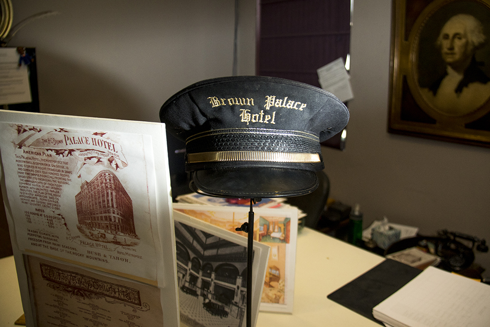 An old hat inside the Brown Palace Hotel archive, Aug. 4, 2017. (Kevin J. Beaty/Denverite)