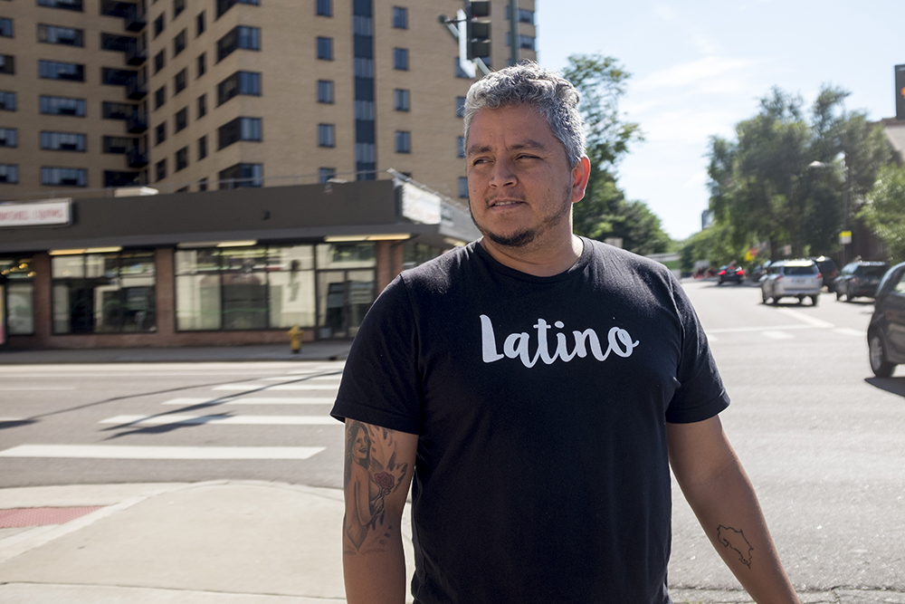 Jose Beteta of Raices Brewing, outside a vacant storefront in Capitol Hill that may one day house his fledgeling brewery, Aug. 14, 2017. (Kevin J. Beaty/Denverite)  denver; colorado; capitol hill; denverite; jose beteta; beer; brewing; raices brewing;