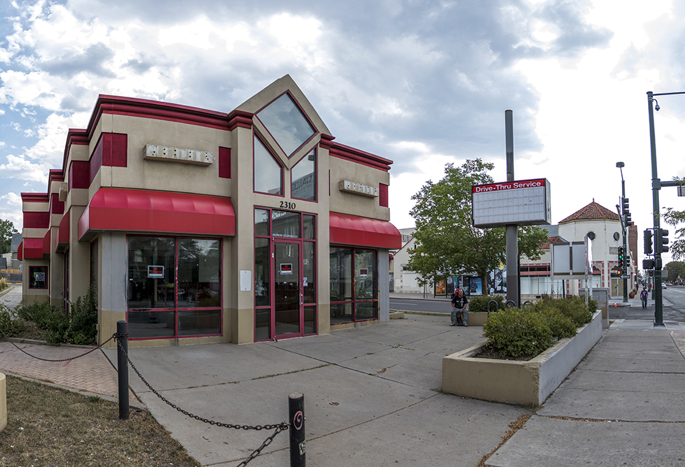 A former Arbys on E. Colfax Avenue. (Kevin J. Beaty/Denverite)  colfax; commercial real estate; arbys; kevinjbeaty; denver; denverite; colorado;