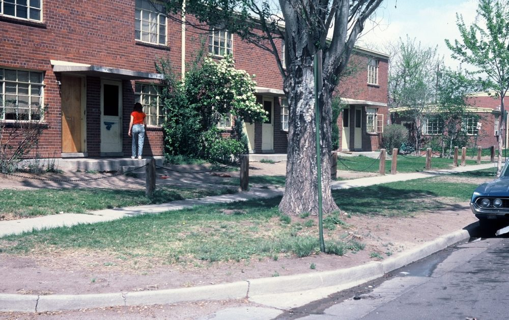 The South Lincoln Homes complex along Navajo Street before they were demolished for the Mariposa District. (Courtesy of the Denver Housing Authority)
