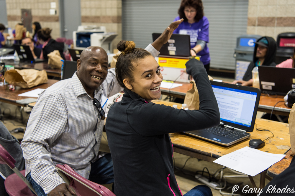 Denver's Project Homeless Connect pulls essential services into one place for one day. (Courtesy Denver Human Servicee. Photograph by Gary Rhodes.)