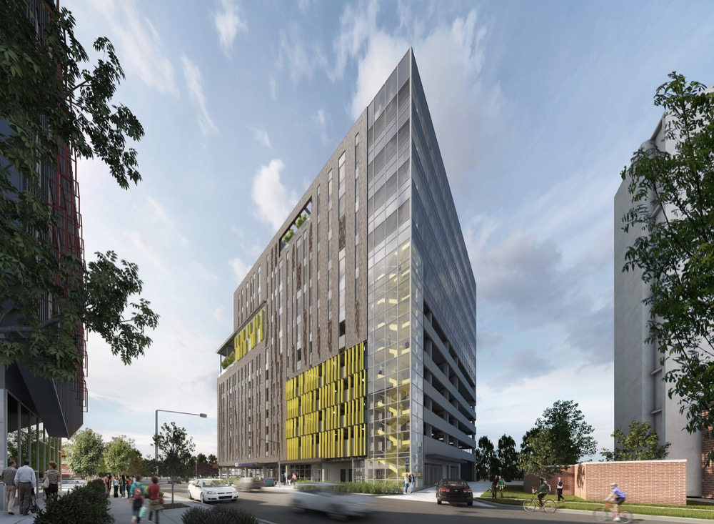 A rendering of Denver Housing Authority's proposed office building near Osage Street and West 10th Avenue. (Courtesy of the Denver Housing Authority)