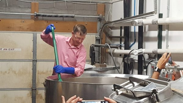 Colorado Gov. John Hickenlooper working on Uncommonly Colorado, a beer he hopes will raise money for preserving the historic Governor's Residence at the Boettcher Mansion. (Courtesy of Lexa PR)