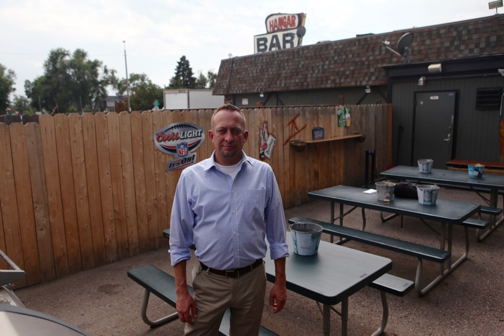 Tom Fesing, a board member of the East Montclair Neighborhood Association. (Andrew Kenney/Denverite)