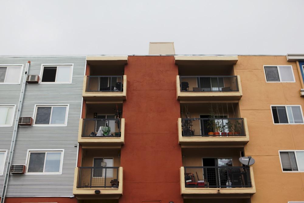 Multifamily housing near East Colfax. (Andrew Kenney/Denverite)