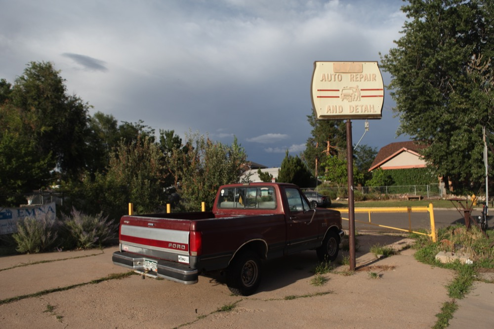 Parked outside Counterpath in East Colfax. (Andrew Kenney/Denverite)
