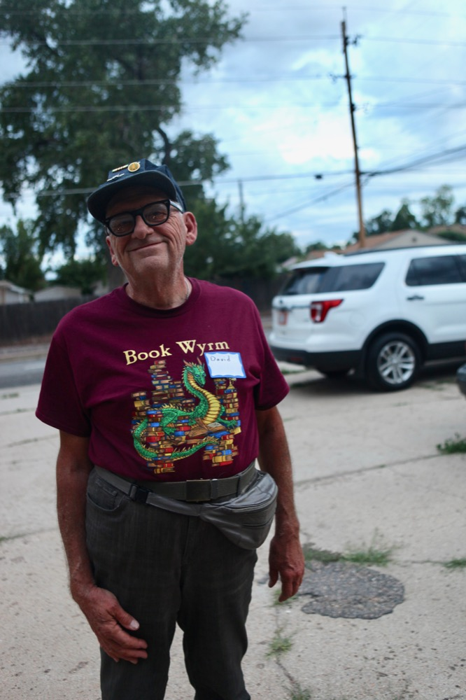 David Kinnaman, 69, a longtime resident of the East Montclair/East Colfax neighborhood, poses for a photo. (Andrew Kenney/Denverite)