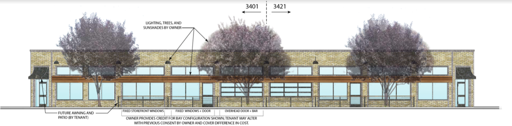A rendering of what 3401 E. Colfax Ave. is expected to be redeveloped to look like. (Courtesy of Tom Secrist)