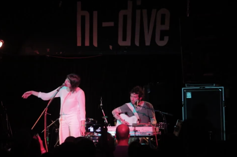 Aldous Harding performs at the Hi-Dive during the 2017 UMS. (Kevin J. Beaty/Denverite)