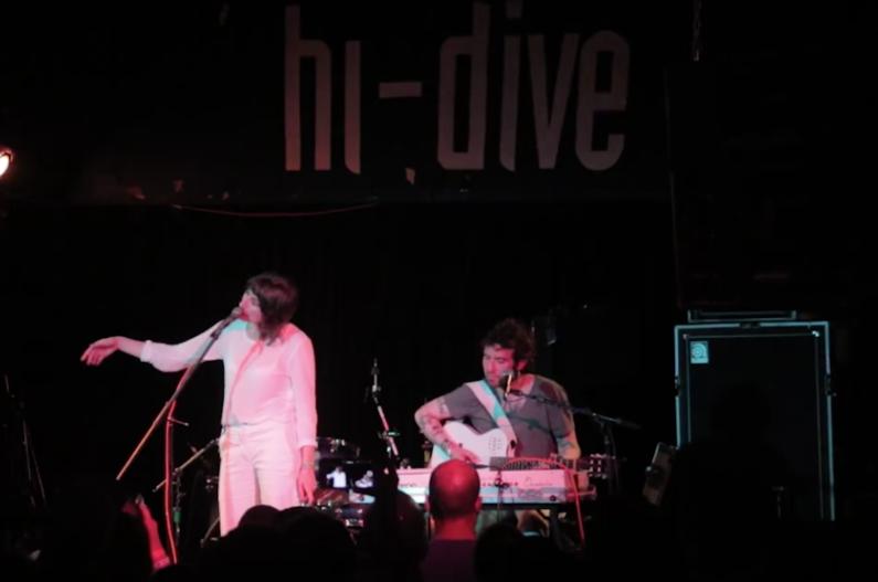 Aldous Harding performs at the Hi-Dive during the 2017 UMS. (Kevin J. Beaty/Denverite)