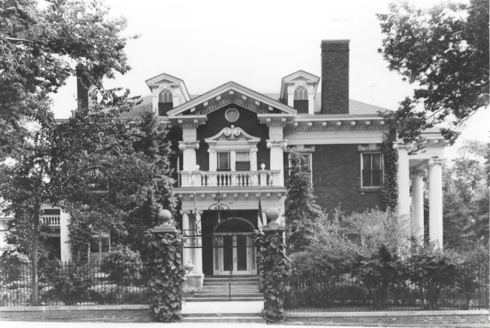 Governor's Residence at the Boettcher Mansion near the southeast corner of Eighth Avenue and Logan Street, 1968. (National Registry of Historic Places)