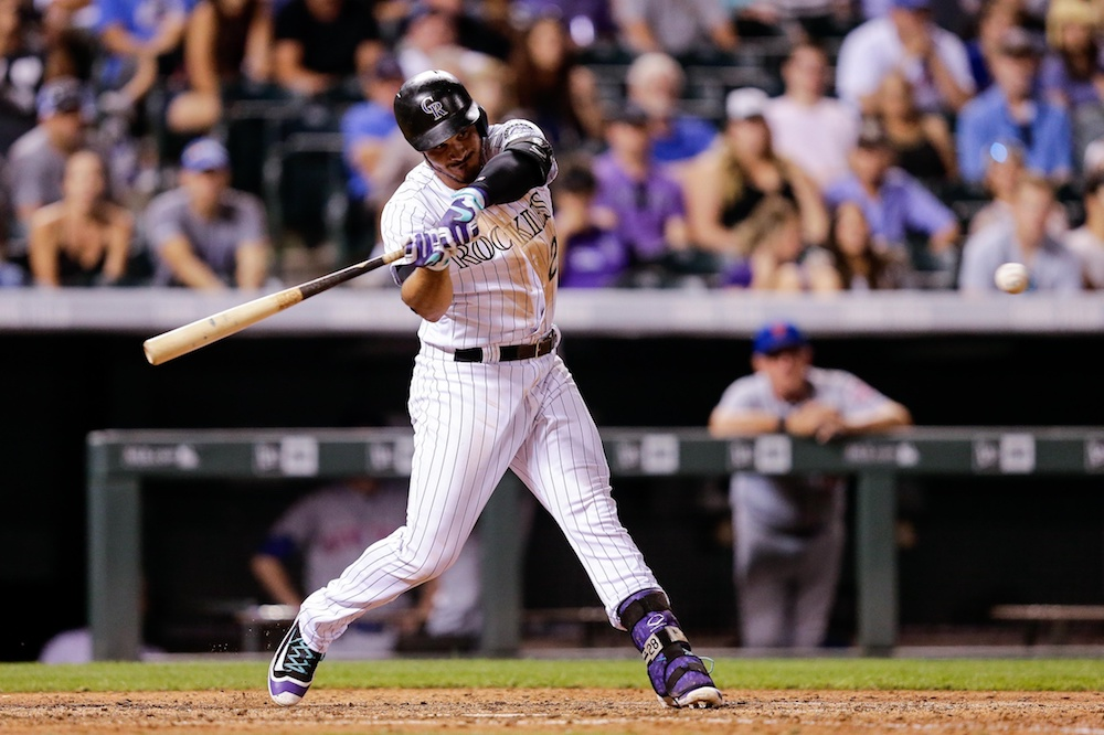 Nolan Arenado recorded his second walk-off hit of the season Wednesday. (Isaiah J. Downing/USA Today Sports)