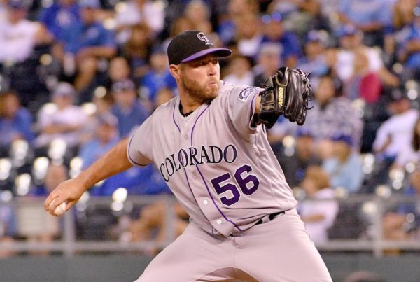 Greg Holland gave up a ninth-inning HR to Eric Hosmer as the Rockies fell 6-4. (Danny Medley/USA Today Sports)