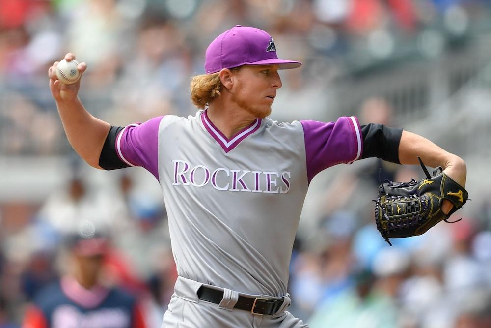 Jon Gray threw six innings of shutout ball Sunday. (Dale Zanine/USA Today Sports)