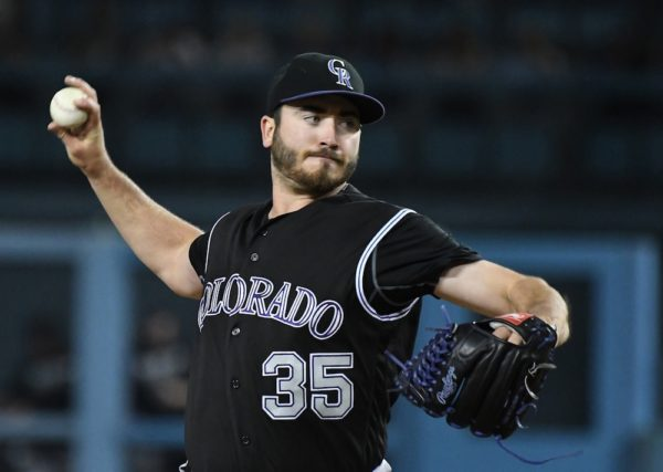 Chad Bettis, pictured here in 2016, will make at least one more rehab start before he rejoins the Rockies. (Jayne Kamin/USA Today Sports)