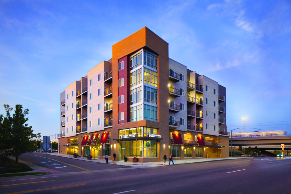 A rendering of Koelbel and Company's first affordable housing development at Yale Station. (Courtesy of Koelbel and Company)