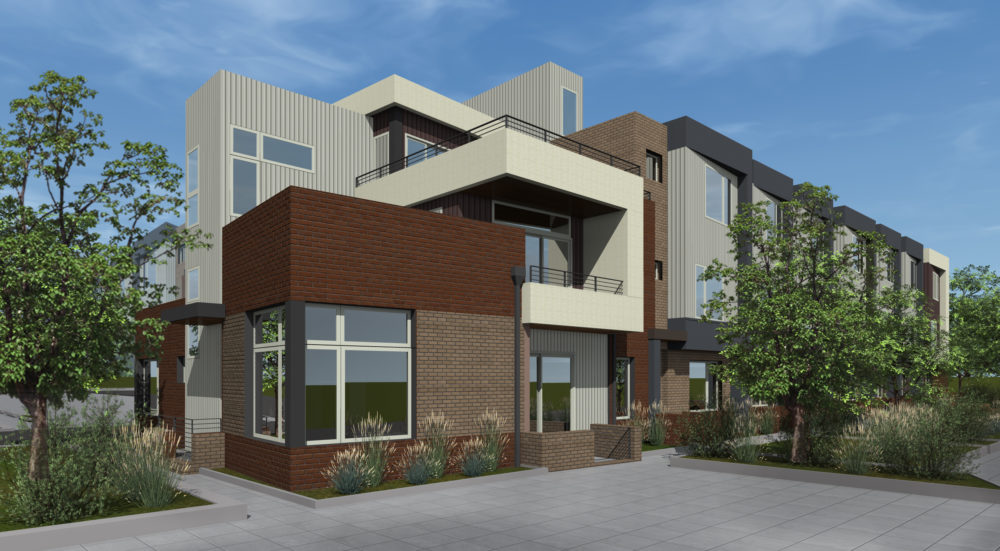 A rendering of Koelbel and Company's planned affordable units at the former St. Anthony site. (Courtesy of Koelbel and Company)