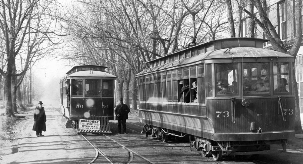 Denver Tramway Company trolleys circa 1900. (James E. Kunkle/Denver Public Library/Western History & Genealogy Dept./X-18297)