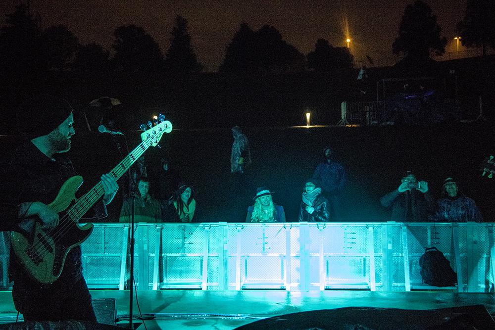 Dragondeer plays Levitt Pavilion's last free show of their inaugural season, Sept. 24, 2017. (Kevin J. Beaty/Denverite)  music; ruby hill; levitt pavilion; amphitheatre; denver; denverite; colorado; kevinjbeaty;