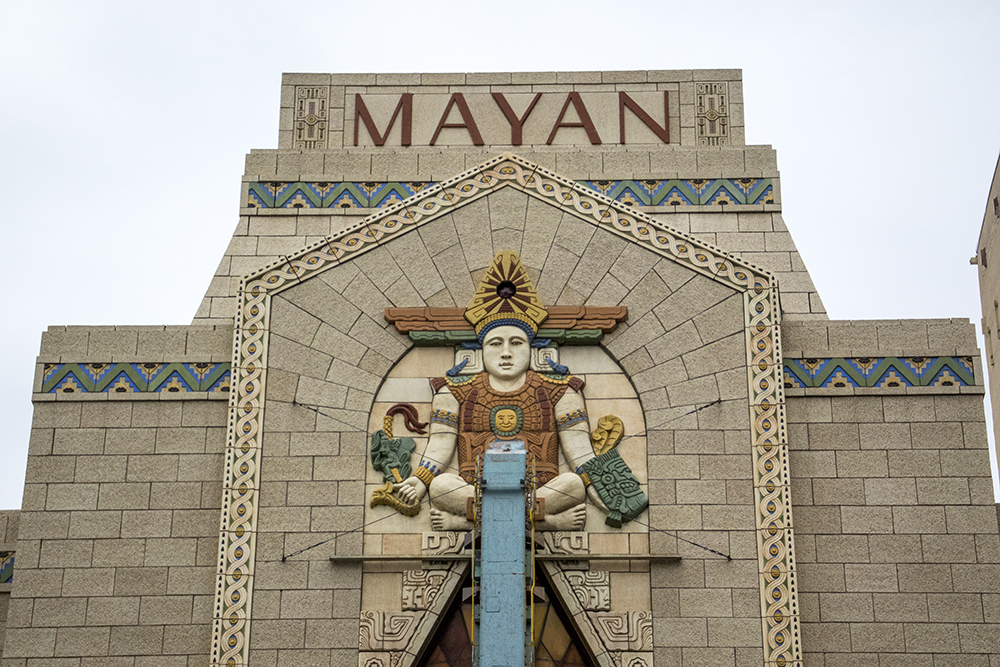 Mayan Theater on Broadway at 1st Avenue. (Kevin J. Beaty/Denverite)  denver; colorado; denverite; kevinjbeaty; mayan theater; entertainemnt; movies; movie theater; south broadway;