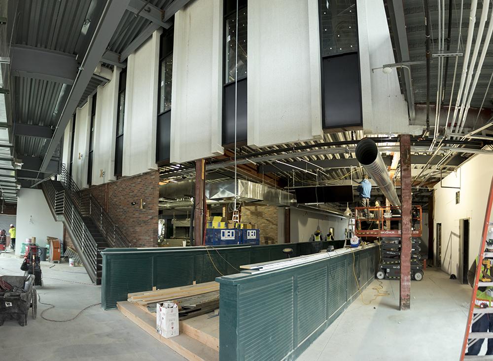 Punch Bowl Social Stapleton, under construction. Sept. 27, 2017. (Kevin J. Beaty/Denverite)  punch bowl social; construction; development; stapleton; kevinjbeaty; denver; denverite; colorado; restaurant;