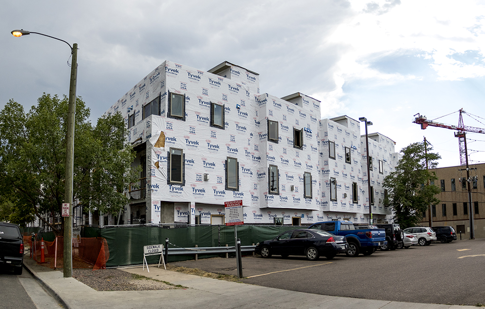 The Triangle 22 on Elati townhome project by Kentwood Real Estate,  Aug. 30l 2017. (Kevin J. Beaty/Denverite)  golden triangle; denver; colorado; denverite; kevinjbeaty; development; construction;