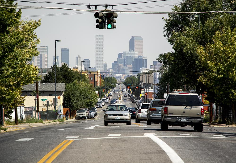 Morrison Road, Westwood, Sept. 11, 2017. (Kevin J. Beaty/Denverite)  kevinjbeaty; denver; denverite; colorado; morrison road; westwood; cityscape; skyline;