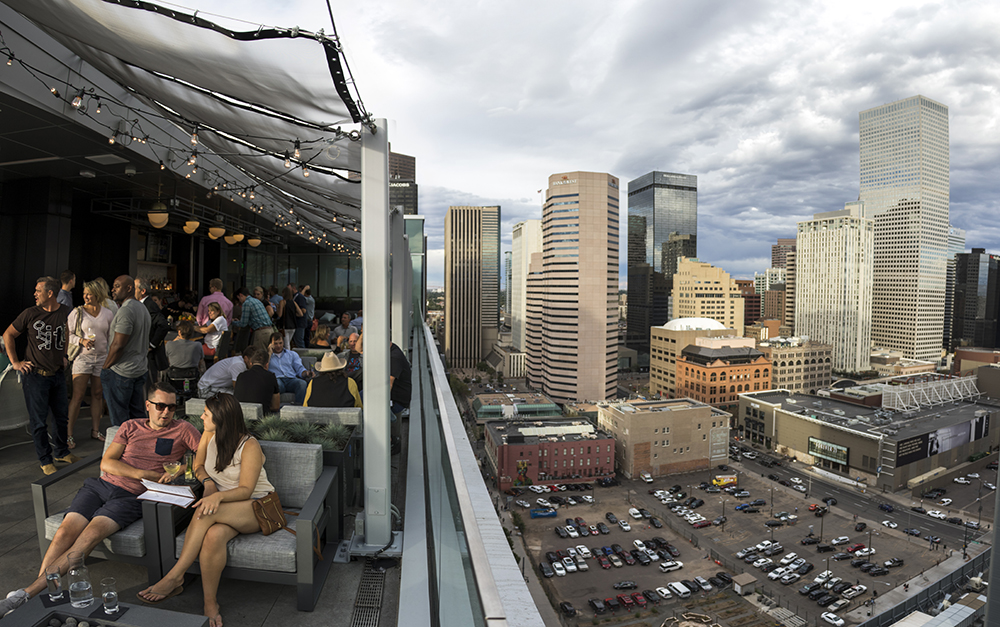 54thirty, the bar atop the Le Meridien Hotel on California Street downtown. (Kevin J. Beaty/Denverite)  hotel; central business district; downtown; kevinjbeaty; denver; denverite; colorado; bar; nightlife;