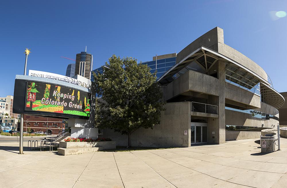 The Denver Performing Arts Complex, Sept. 20, 2017. (Kevin J. Beaty/Denverite)  colorado; denver; denverite; kevinjbeaty; Denver Performing Arts Complex; dcpa; theater;