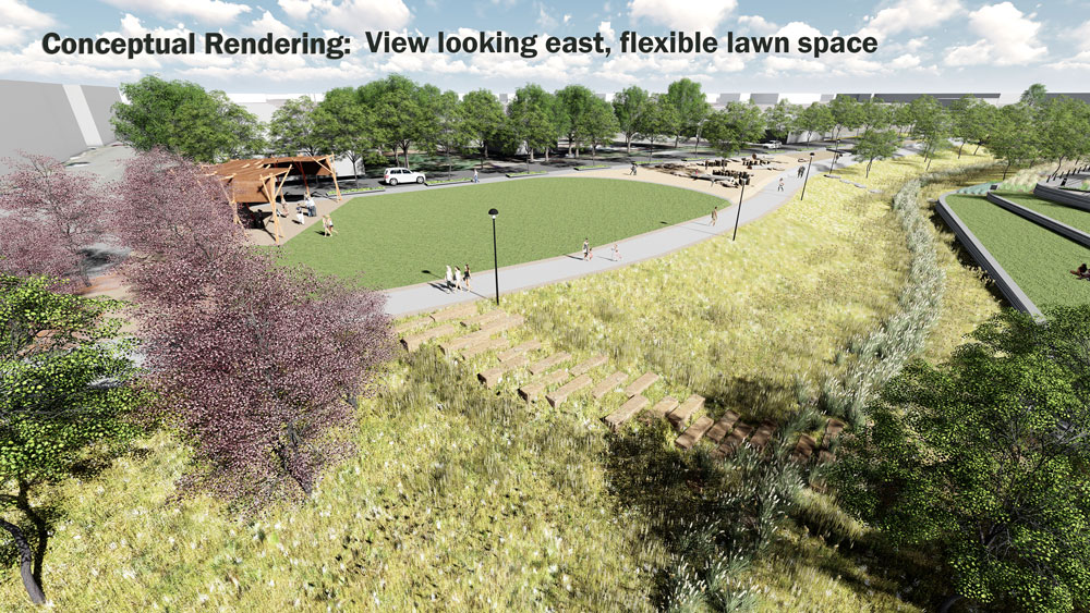 A rendering of the 39th Avenue Greenway. (City of Denver)